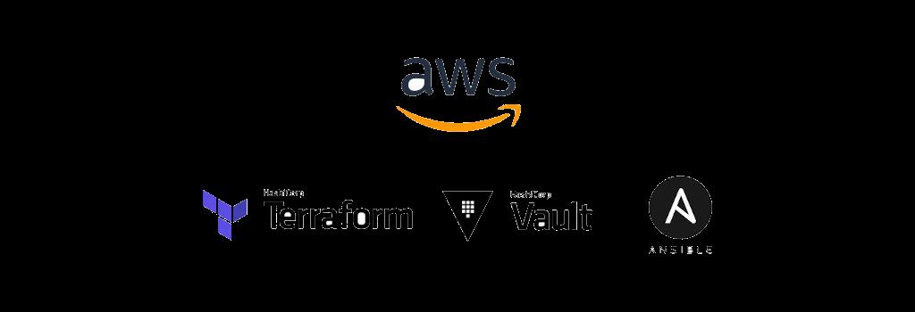 AWS Terraform Vault Ansible logos